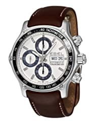 Ebel Men's 9750L62/63B35P1 1911 Discovery Silver Chronograph Dial Watch