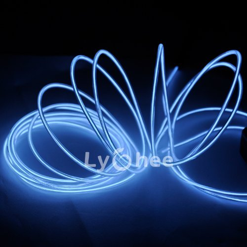 Lychee® 15ft Neon Light El Wire w/ Battery Pack for Parties, Halloween Decoration (white) Color: White Size: 15ft Model: (Hardware & Tools Store)