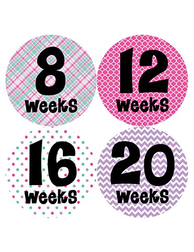 Months in Motion 904 Pregnancy Baby Bump Belly Stickers Maternity Week Sticker
