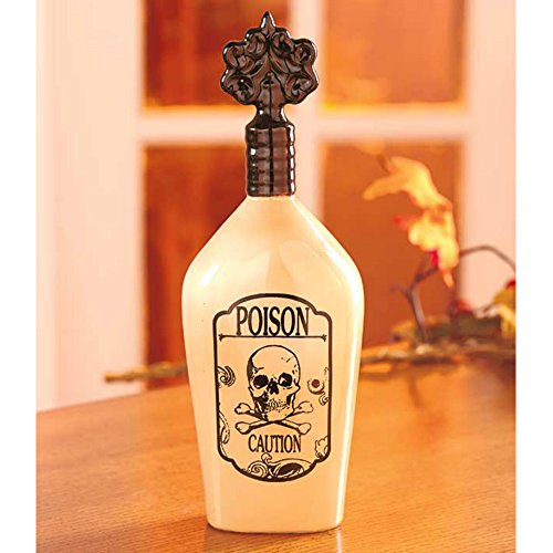 11-Inch Ceramic Poison Bottle For Spooky Halloween Decoration (Homemade Clown Costumes For Boys)