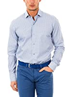 McGregor Camisa Hombre Lesmo Bruce 4 Tf Ls (Blanco / Azul)