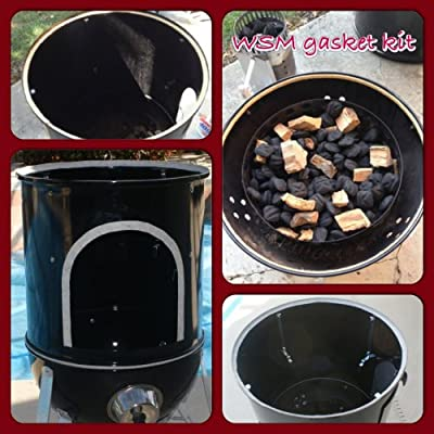 WSM Gasket Kit, Weber Smokey Mountain 18.5 22.5 Nomex RTV grill gasket seal