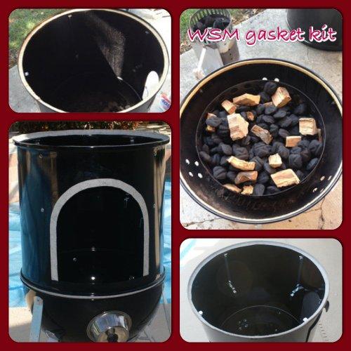 wsm gasket kit weber smokey mountain 18 5 22 5 nomex rtv grill gasket seal. Black Bedroom Furniture Sets. Home Design Ideas