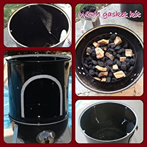 wsm gasket kit weber smokey mountain 18 5 22 5 nomex rtv grill gasket seal weber. Black Bedroom Furniture Sets. Home Design Ideas