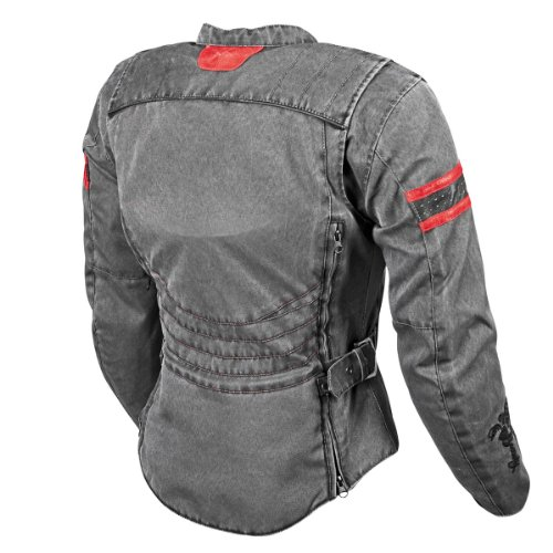 Speed and Strength American Beauty Women's Motorcycle Textile/Leather Jacket (Vintage Black, Small) 1