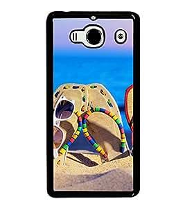 Beach Slippers 2D Hard Polycarbonate Designer Back Case Cover for Xiaomi Redmi 2S :: Xiaomi Redmi 2 Prime :: Xiaomi Redmi 2