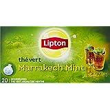 Lipton Thé vert à la menthe Marrakech 20 sachets - Lot de 3