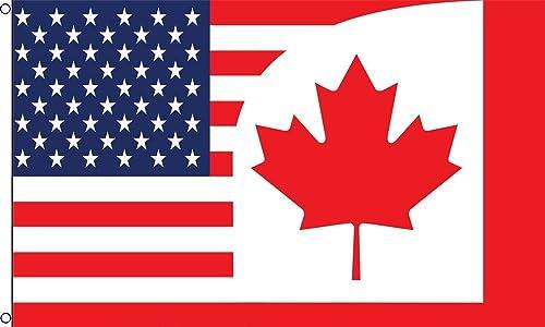 USA/Canada Combo Flag