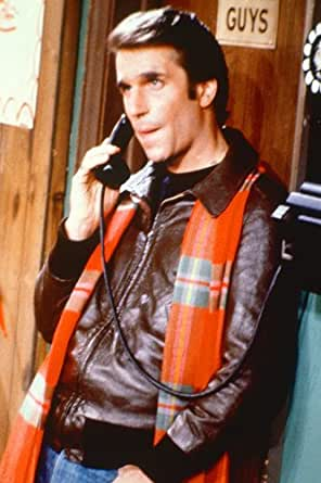 Henry Winkler 24x36 Poster as Fonzie on phone with red ...