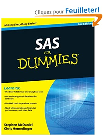 sas for dummies mcdaniel stephen hemedinger chris