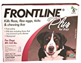 Merial Frontline Plus for Dogs, 89-132 lbs, 6 Doses