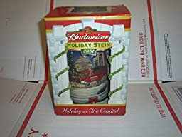 2001 Budweiser Holiday Stein by Ceramarte of Brazil