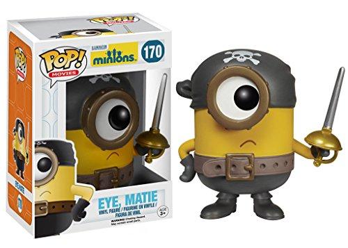 "Funko Pop Movies Minions: Eye, Matie Vinyl Action Figure Collectible Toy, 3.75"" PRS"