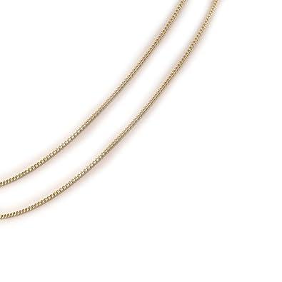 Les Trésors De Lily  C7368  - Chaine Plaqué Or   39 Maille Gourmette  39   50 cm 1. 7 mm  Bijoux. - mechantfr3235 66f9189231a3