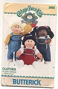 Butterick #3660 Cabbage Patch Kids Clothes Sewing Pattern