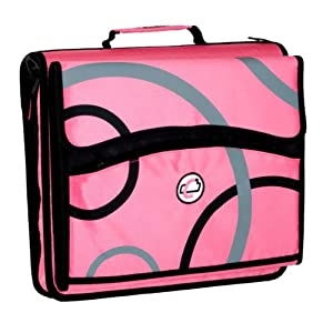 Case-It 2-Inch D-Ring Zipper Binder with Removable Tab File