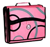 Case-It 2-Inch D-Ring Zipper Binder with Removable Tab File, Pink Print (D-900-PNK-P)