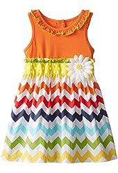 Good Lad Little Girls' Chevron Stripe Sundress