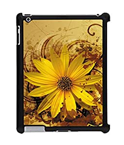 Fuson 2D Printed Flower Designer Back Case Cover for Apple iPad 2 - D969