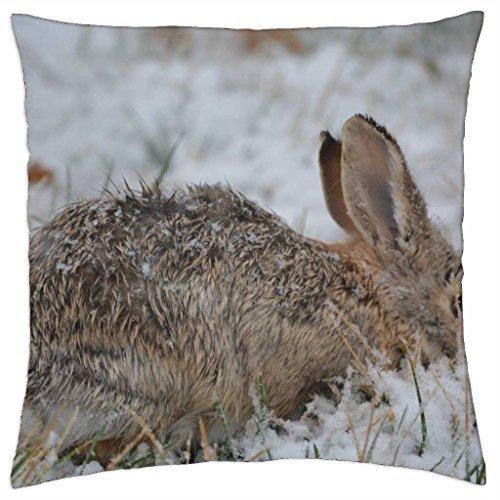 Snow Bunny - Throw Pillow Cover Case (18
