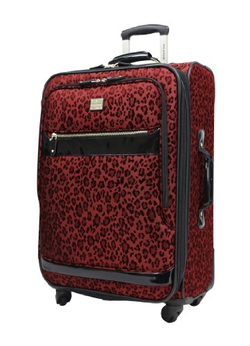 Ricardo Beverly Hills Luggage Savannah 24 Inch 2-Compartment Spinner Upright, Ruby Leopard, Large special offers