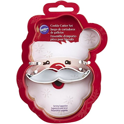 Wilton 2308-3270 2-Piece Christmas Santa Face Cookie Cutter Set