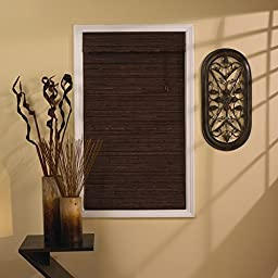 Radiance 0108321 Tahiti Cocoa Roman Shade, Bamboo, with 6-Inch Long Valance, 43-Inch Wide by 63-Inch Long