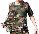 (ガンフリーク) GUN FREAK 迷彩柄 半袖 Tシャツ タクティカル ストレッチ メッシュ サバゲー ( ウッドランド 迷彩 , 3XL )