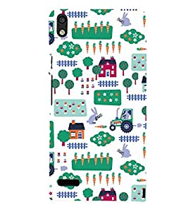KIDDISH PATTERN OF HUTS AND TRUCKS IN A WHITE BACKGROUND 3D Hard Polycarbonate Designer Back Case Cover for Huawei Google Nexus 6P :: Google Nexus 6P :: Nexus 6P