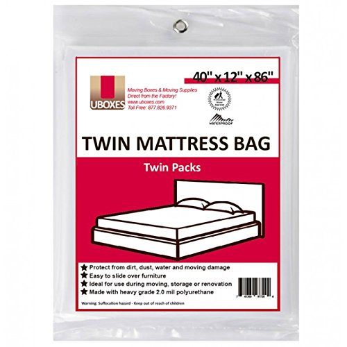 "Buy Bargain UBOXES Twin Size Mattress Covers, 40"" x 12"" x 86"" (TWINSCOVER02)"