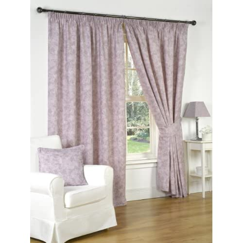 Hamilton McBride Genesis Heather Fully Lined Readymade Curtain Pair 46x72in(116x182cm)