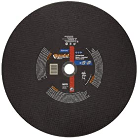 "Norton Gemini Free Cut Large Diameter Reinforced Abrasive Cut-off Wheel, Type 01 Flat, Aluminum Oxide, 1"" Arbor, 20"" Diameter x 3/16"" Thickness (Pack of 1)"