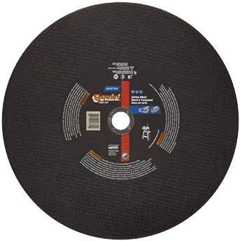 "Norton Gemini Free Cut Large Diameter Reinforced Abrasive Cut-off Wheel, Type 01 Flat, Aluminum Oxide, 1"" Arbor, 20"" Diameter x 3/16"" Thickness (Pack of 1)"