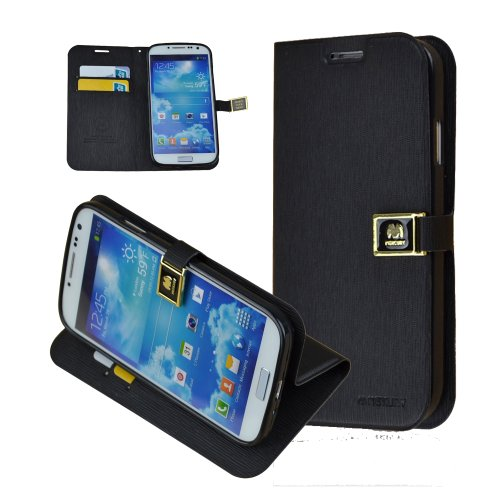 For Samsung Galaxy S4 Siv I9500 - Commuter Series Wallet Case For Samsung Galaxy S4 - Retail Packaging - Black