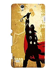 Omnam Thor Cartoon Designer Back Cover Case For Sony Xperia C4