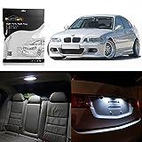 Partsam 1999-2005 BMW E46 Sedan Wagon Coupe White Interior LED Light Package Kit (16 Pieces)