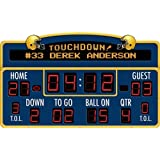 Football Scoreboard Peel & Stick - With FREE Customized Name