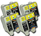 The Ink Squid 4 Sets Of Kodak 30Bk / 30C Black And Colour High Capacity Compatible Ink Cartridges For Kodak Esp C310 Printer