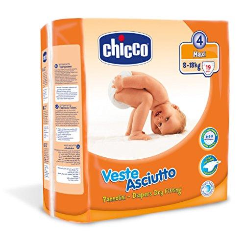 Chicco Veste Asciutto Maxi, 19 Pannolini, Taglia 4 (8-18 kg)