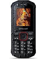 Crosscall Spider X1 Téléphone portable débloqué étanche IP67 résistant robuste (Ecran 1,77 pouces/double sim/Bluetooth/32 Mo/lampe torche) Noir