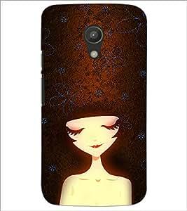 PrintDhaba Cute Face D-4658 Back Case Cover for MOTOROLA MOTO G2 (Multi-Coloured)