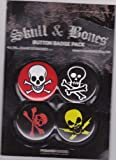 Skull and Bones, Pirate Official 4 Piece Button / Badge Pack