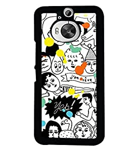 PrintVisa Plastic Multicolor Back Cover For HTC One M9+ & One M9 Plus
