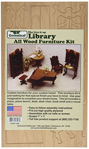 Greenleaf Dollhouse Furniture Kit-Library
