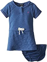 Nautica Baby Girls' French Terry Quilted Dress