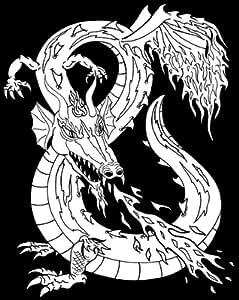 Darice 16-Inch by 20-Inch Velvet Art Set, Dragon Fantasy