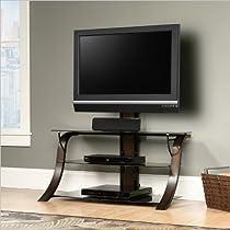 Best Buy Sauder Veer Panel Tv Stand With Tv Mount Sgs Non Wood Cabinet Board Sale