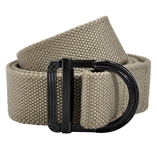 Ayliss® Army Style D-Ring Buckle Thicken Canvas Belt Men Waistband,Dark Khaki