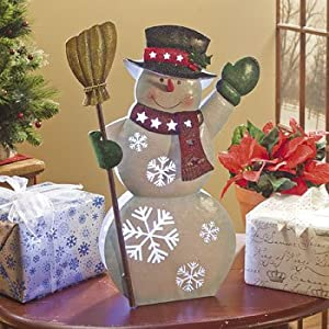 LED Color-Changing Snowman - Decorative Accessories