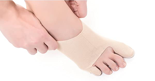 BunionETTE Bootie; Soft Splint for Bunionettes (Tailor's Bunions) Pain (Large, Right Foot) (Color: Right Foot, Tamaño: Large)